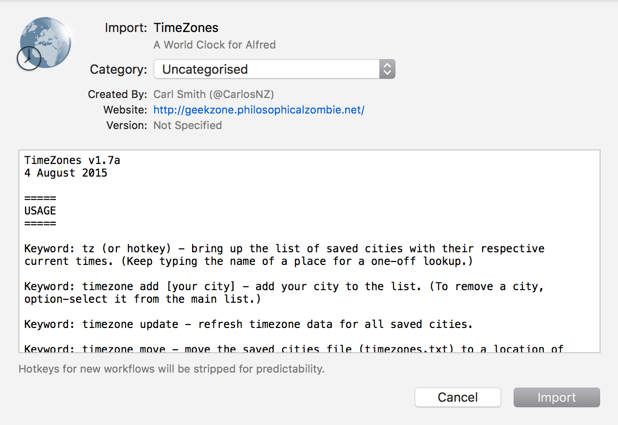 Timezones with Alfred — MyProductiveMac