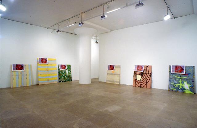 View of Michael Krebber's   The Painting Machine  , 2003