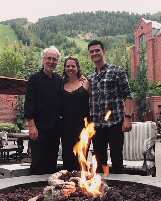 Post concert drinks 🍷 at @stregisaspen with the maestro/composer/conductor! ♥️ We had such a great time performing his awesome concerto at @aspenmusicfest — now back to LA! 🌟