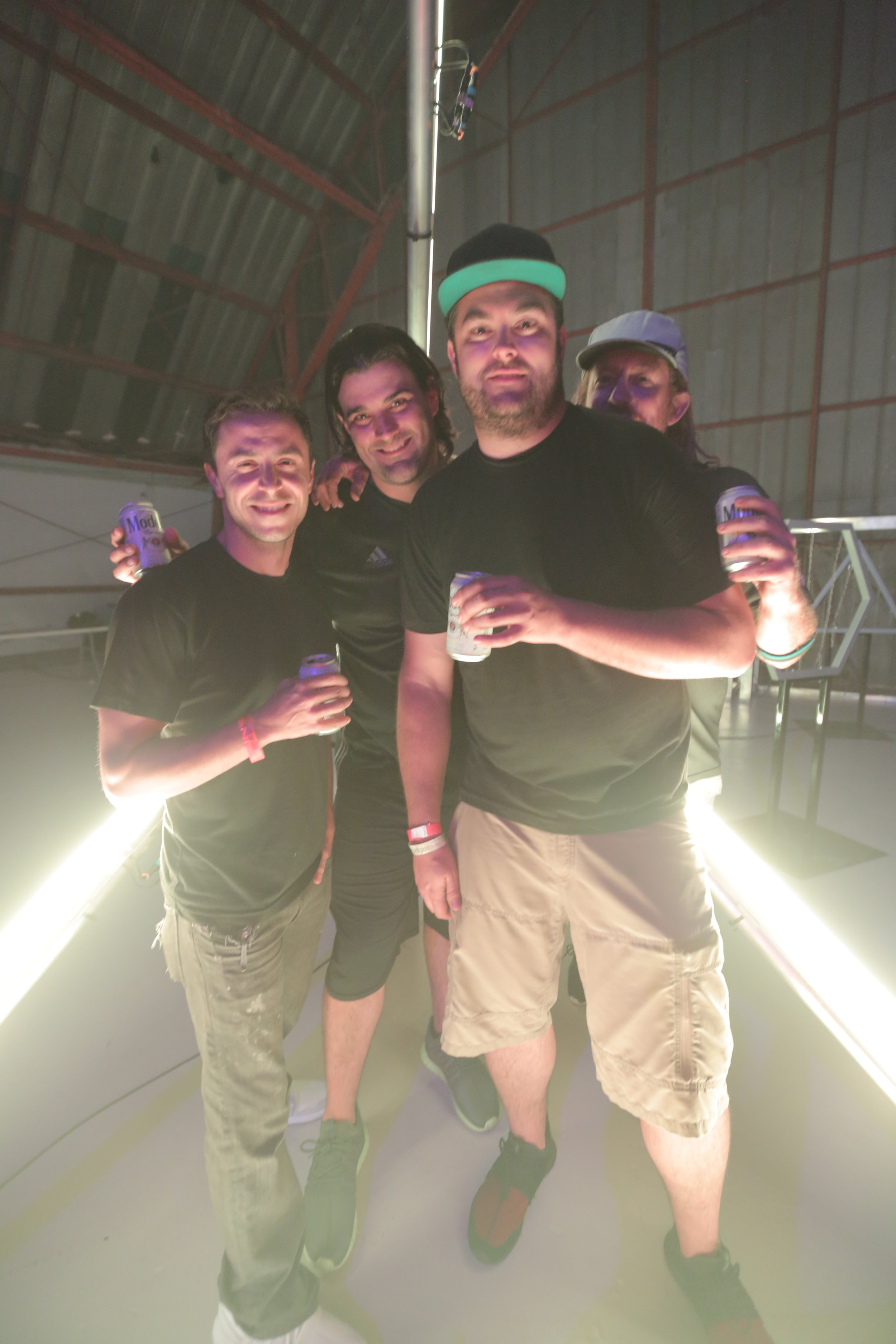 Coupler's Crew enjoying the afterparty following an intense install.