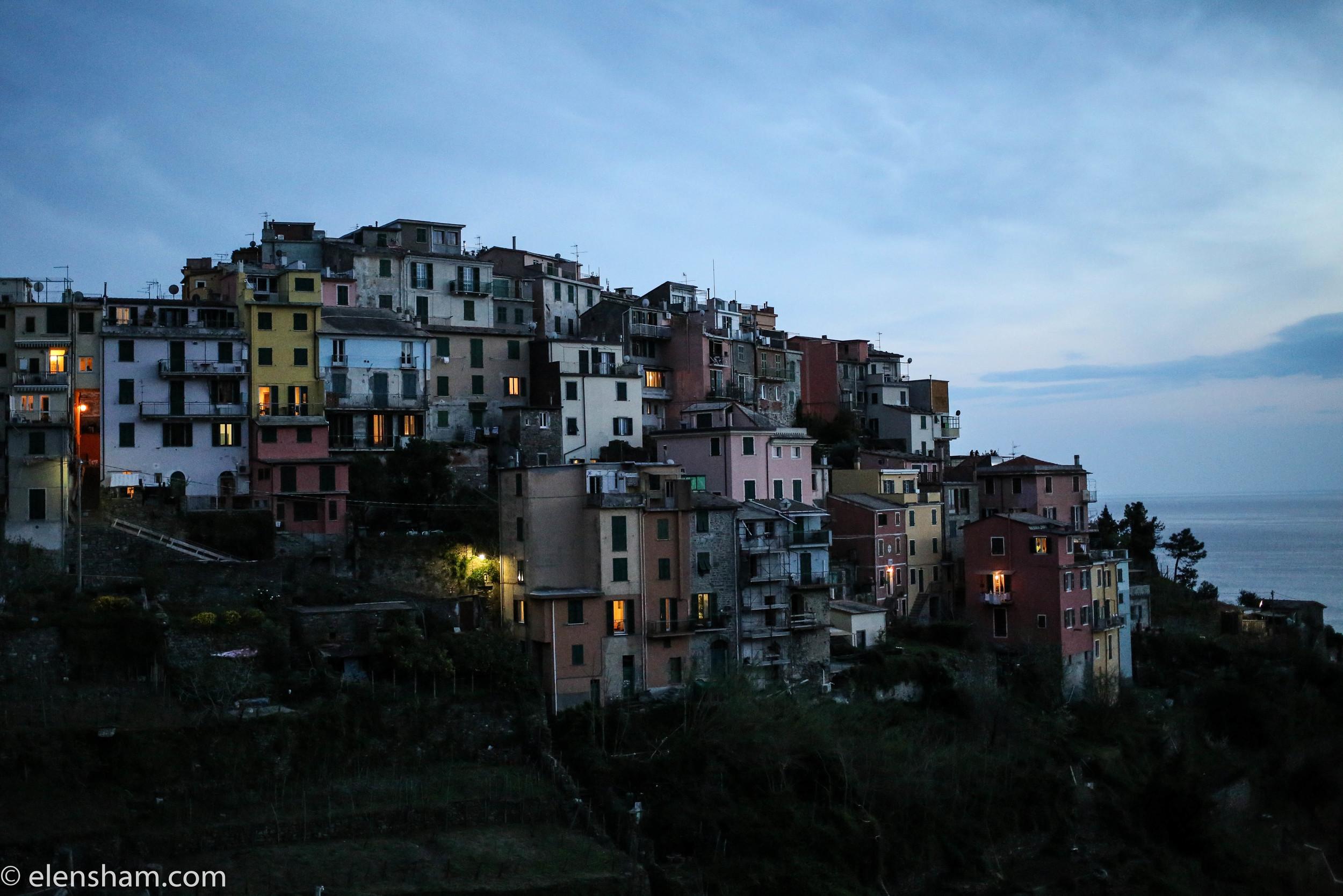 Corniglia in the evening