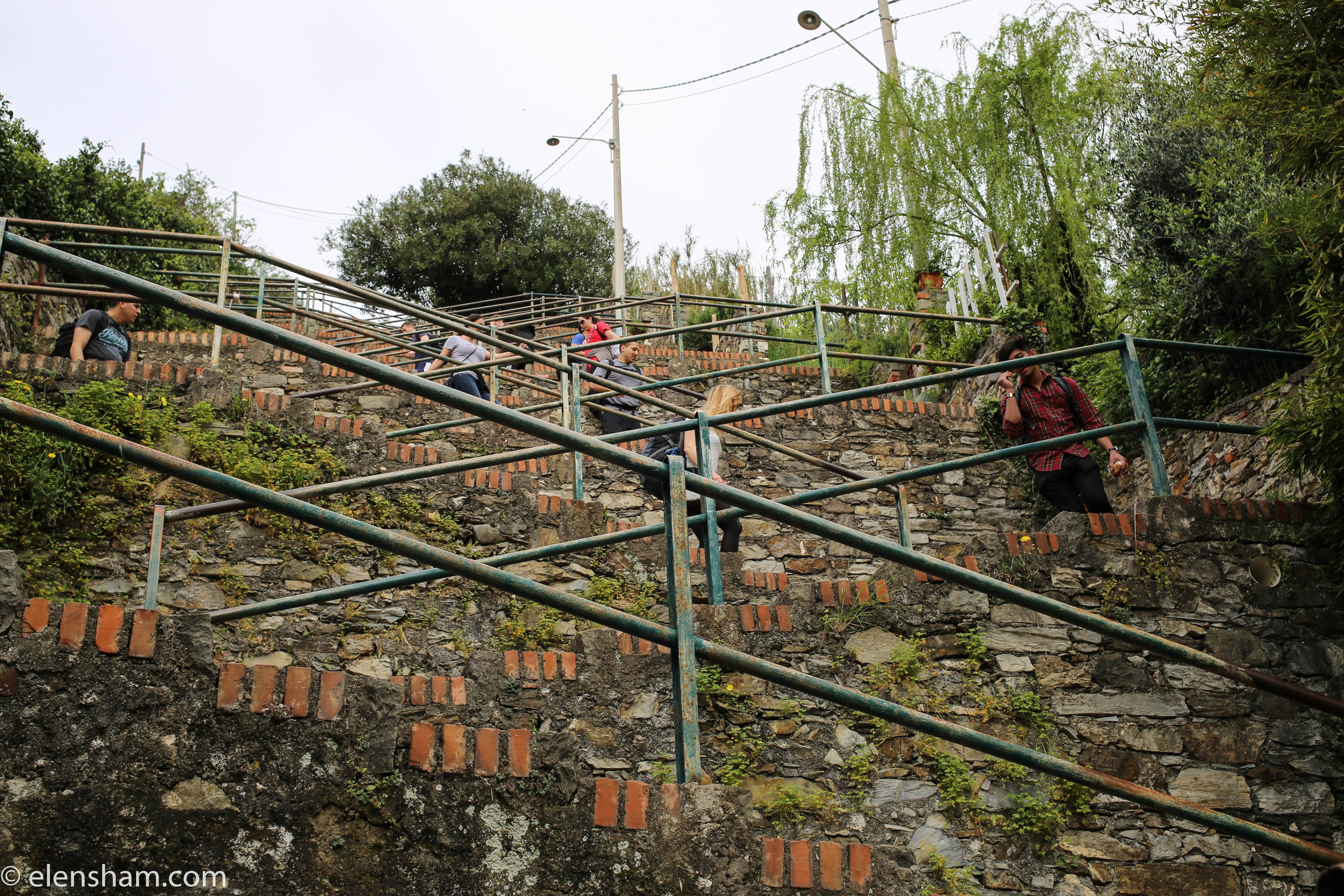 Corniglia train station can only be reached by stairs (there's an alternative bus).