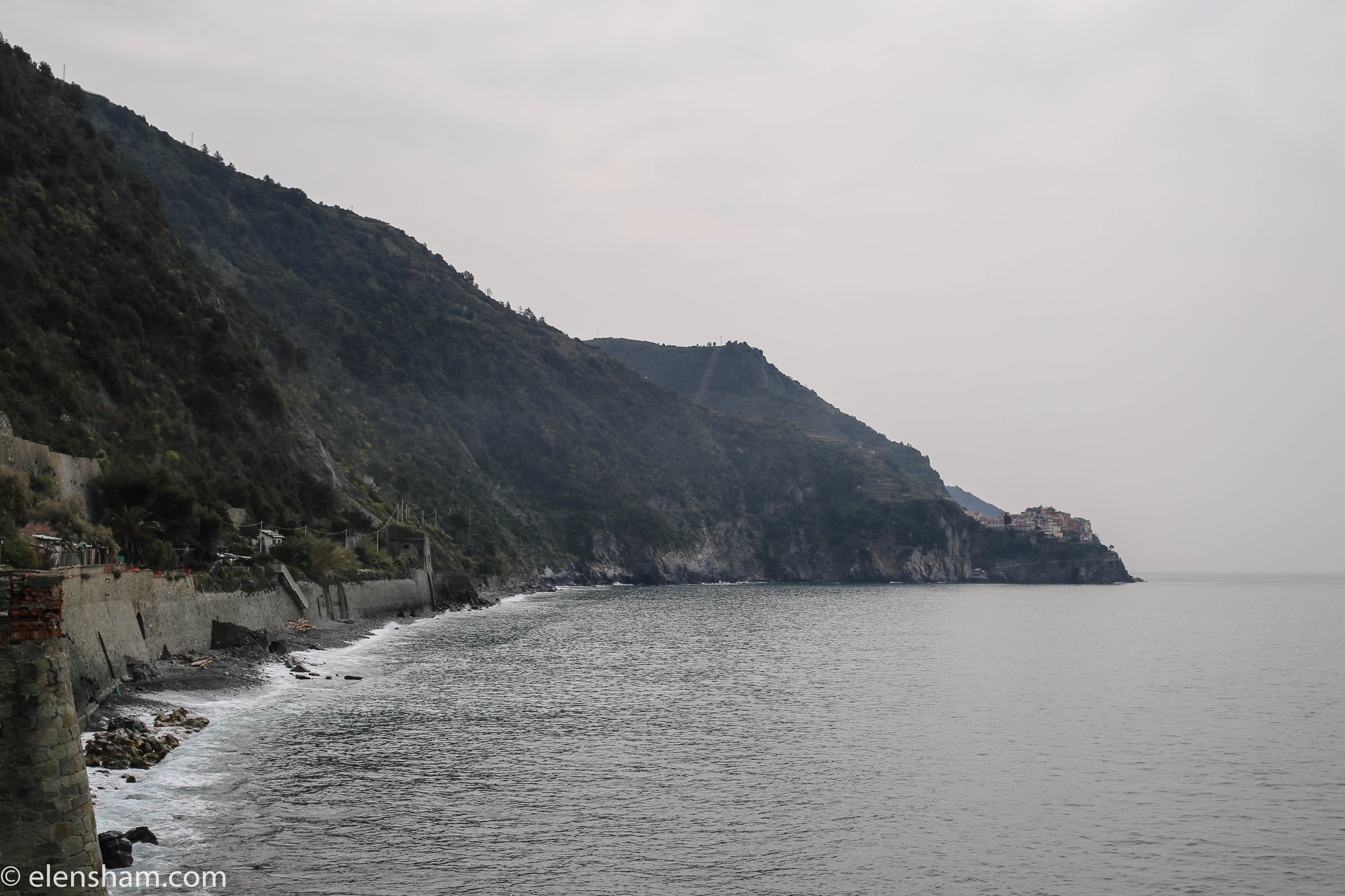 Trying to get to Manarola on foot. The path was closed half way and we had to go back to the train station.