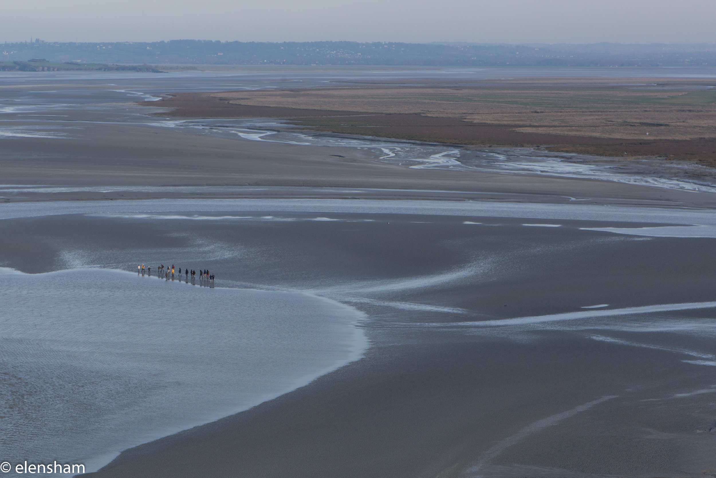 Same group as seen from Mont Saint-Michel.