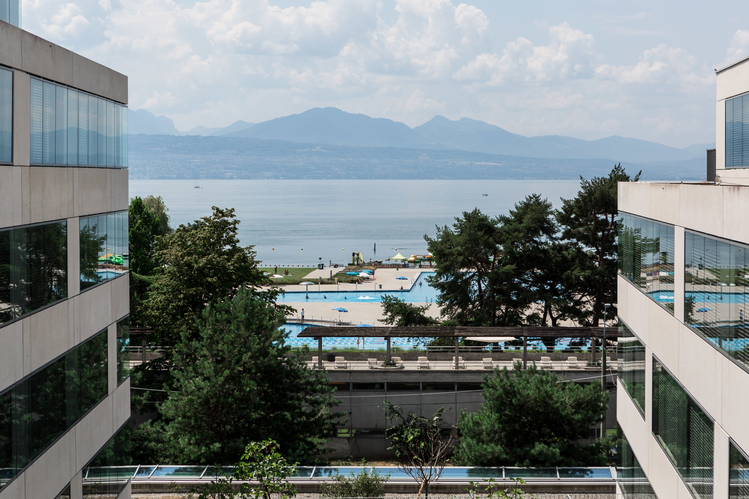 view of Lausanne from Nespresso campus