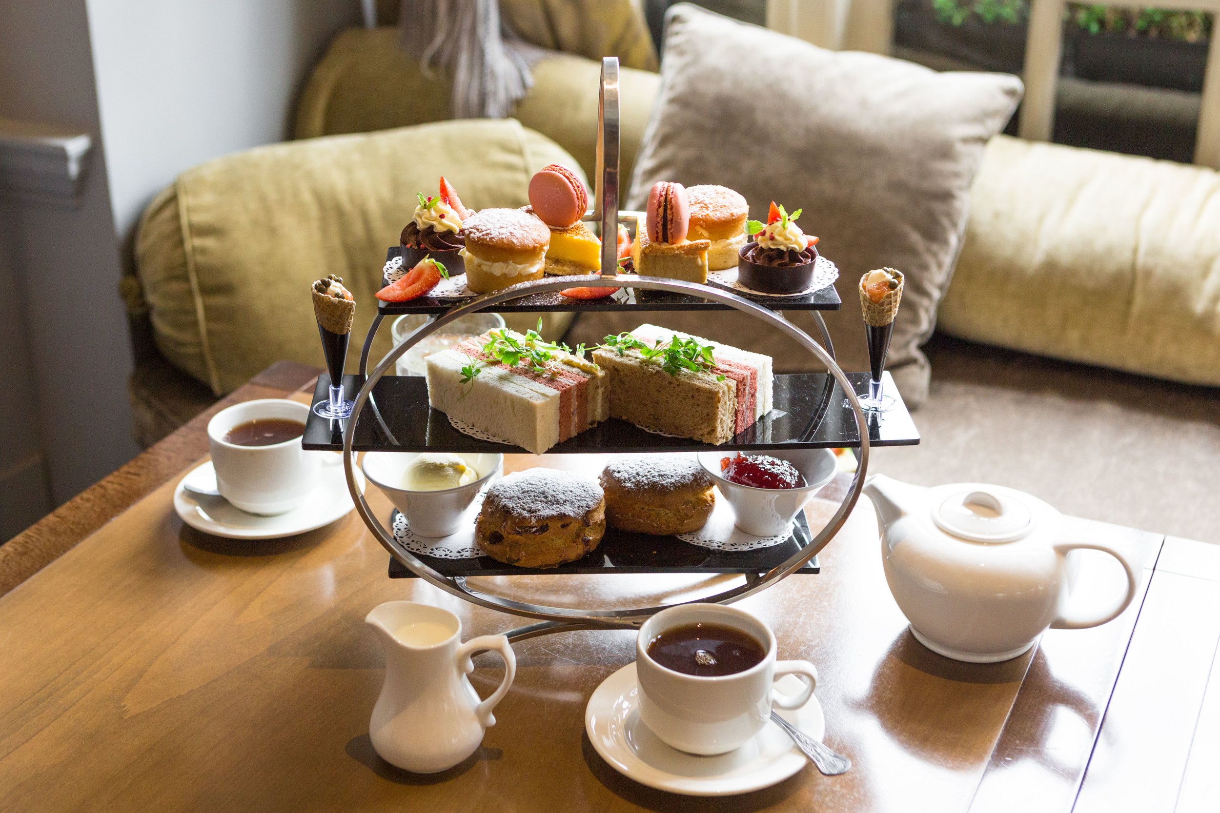 Afternoon tea at castle Hotel Windsor