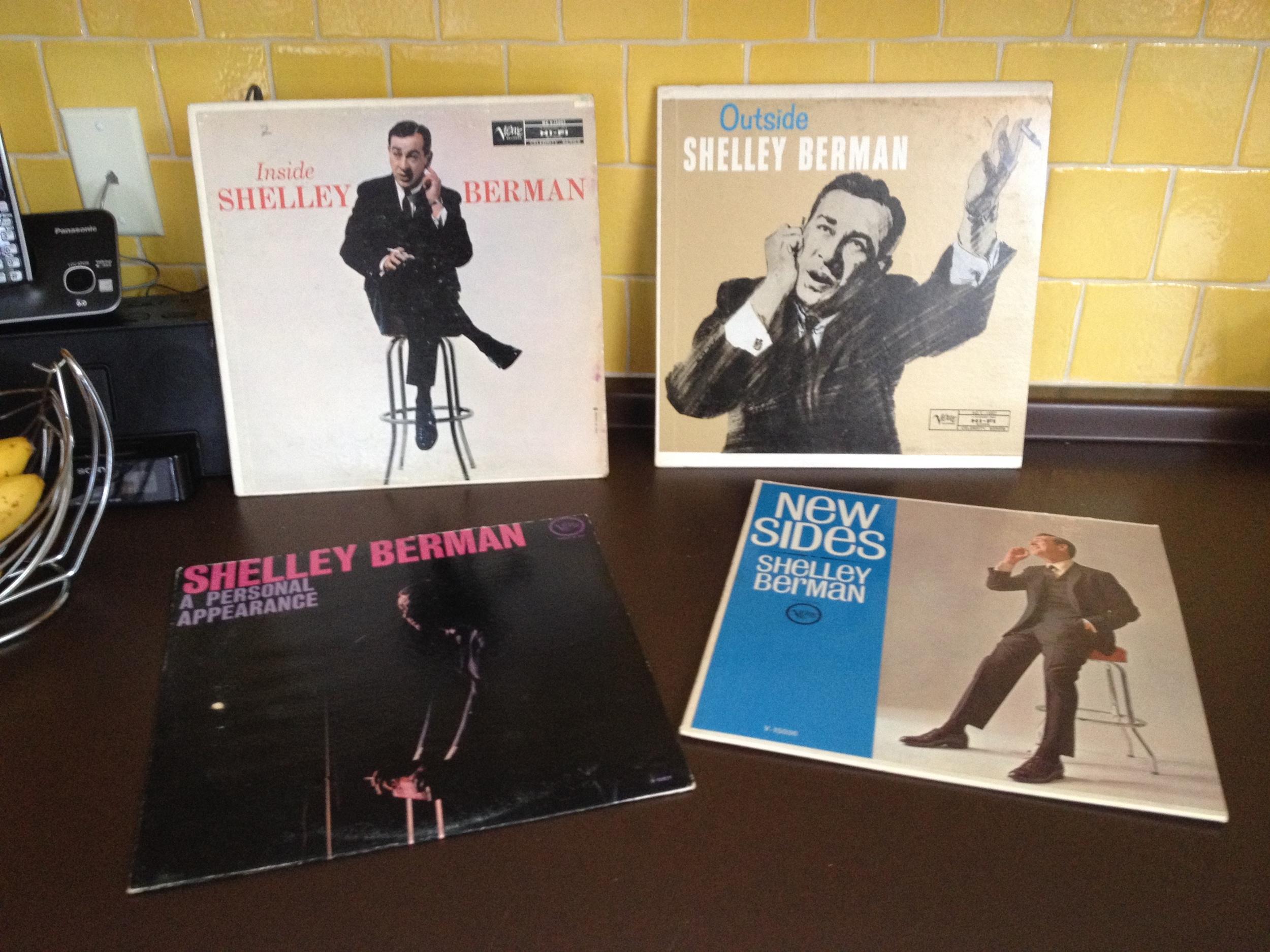 Four Shelley Berman albums, recto.