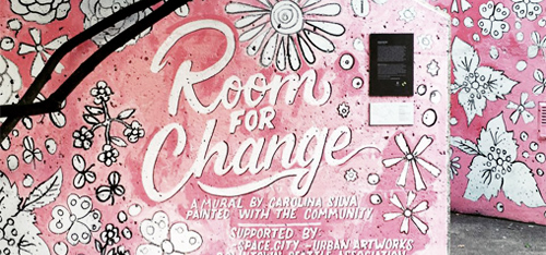 Past 09.21.16  Carolina Silva: Room For Change  #environment #mural