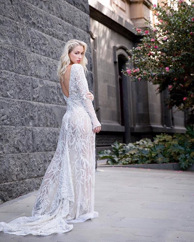 〰️ F I N E  L I N E S 〰️ ...cut to perfection; the 'Luminous' gown plays the line between simple + extravagant. Shop link in bio ✨ -  #longsleeve #bridaldesigner #cosmobride #stylewedding #weddinginspiration #instawed #sydneybride #voguesposa #dreamwedding #weddingideas #melbournewedding #highfashionbride #bridalcouture #luxurybridal #bridalstylist #weddingdress #weddingblogger #weddingdayready #effortlessstyle #australiandesigner #weddedwonderland #thatsdarling #fblogger #melbournebridetobe #simpleweddingdress #soloverly #bridetobe2018 #bridetobe2019 #handbeaded #perfectday