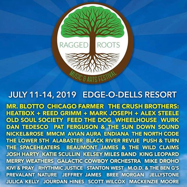 We're playing the Ragged Roots Music & Arts Festival in Wisconsin Dells this Saturday, July 13th! Can't wait - weather is looking to be on point. We hit at 1pm!