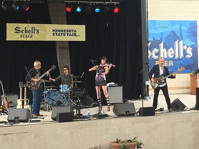 Great pic from our first day at the Fair! Closing out the Fair on the Schell's Stage at 3pm, 4pm + 5pm. 🤘🏻 Thanks for the photo, Brigid!