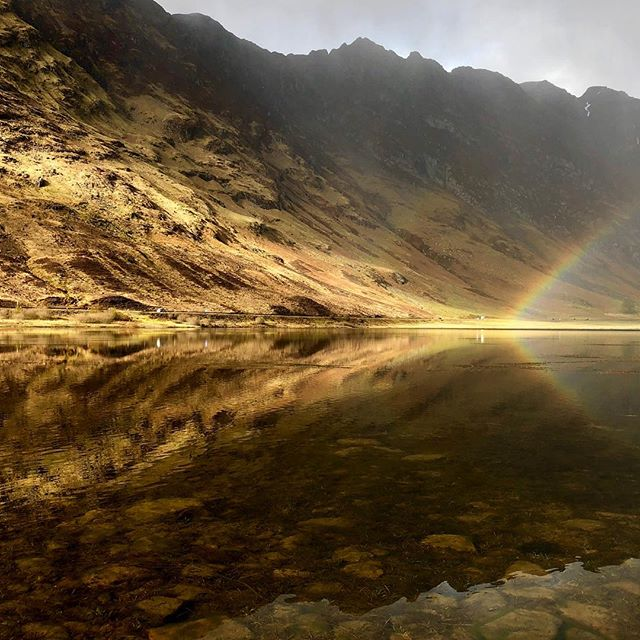 Some light show in Glencoe just then. Love this land!