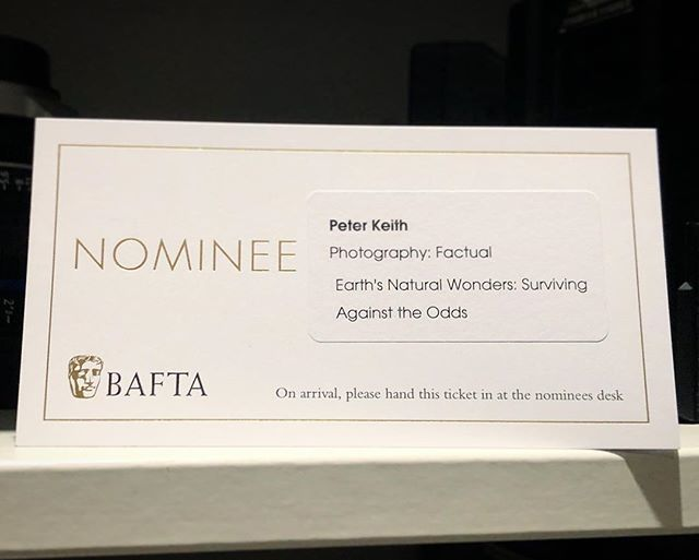 Brilliant night at the BAFTA craft awards last night. What an honour to be nominated alongside such talent. Lindsay McCrae @badgerboy05 was absolutely the deserved winner for his mammoth sacrifice and effort shooting Dynasties : Emperor episode over the course of 11 months! Breathtaking work! . . .  #baftatv #baftacraftawards #earthsnaturalwonders #bbc #bbcearth  #photography #documentary #documentaryphotography #shouldvesaidhitomichaelpalin!