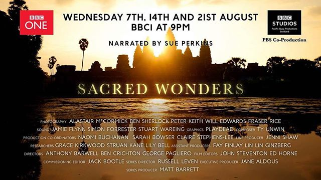 Sacred Wonders - On the telly tomorrow night BBC 1 at 9pm. Was lucky enough to have gone on a fair few trips with the team over the last year. Hope it finds its audience!