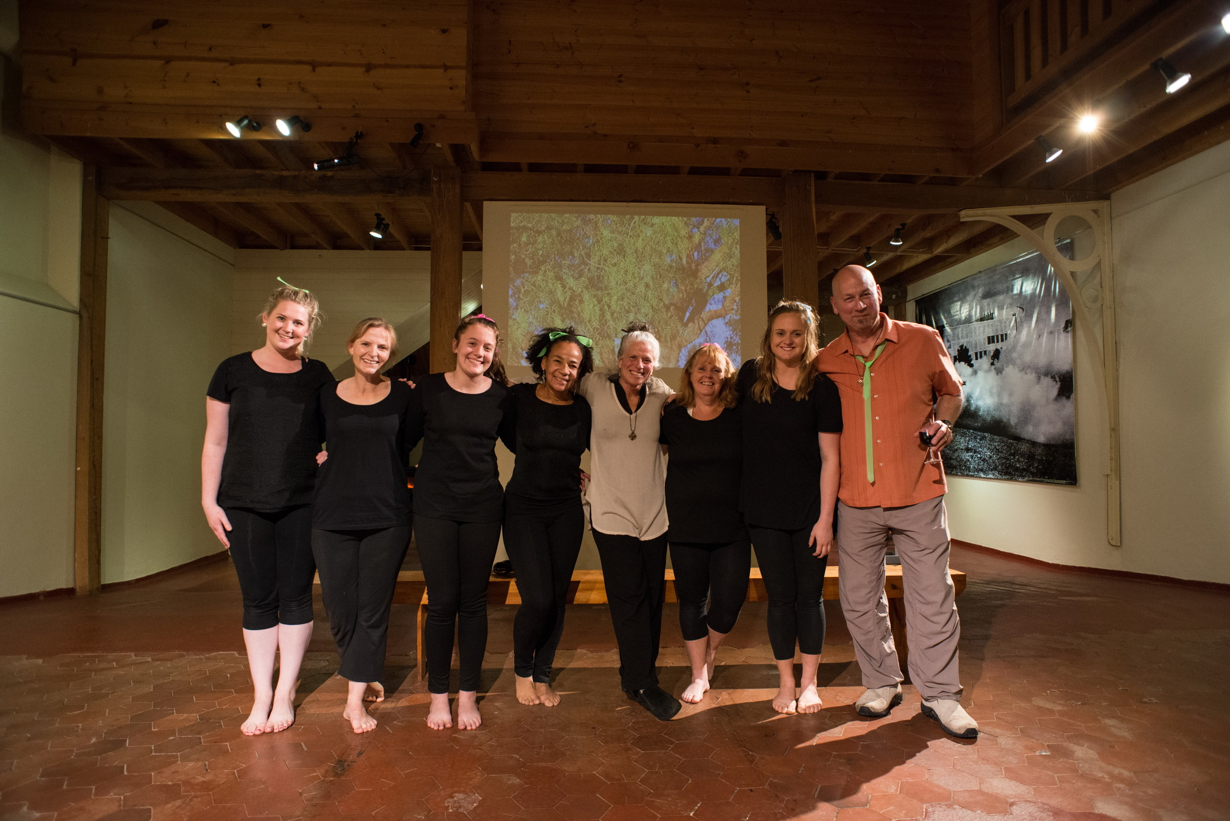 """Body and Soul Dancers and Josephine A Garibaldi and Paul Zmolek at the end of the performance of collaboratively choreographed work """"The Place Where I Start"""""""
