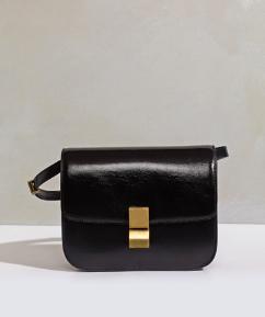 Celine Medium Box in Vernice Black