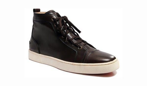 Louis Black Calf Leather Sneakers
