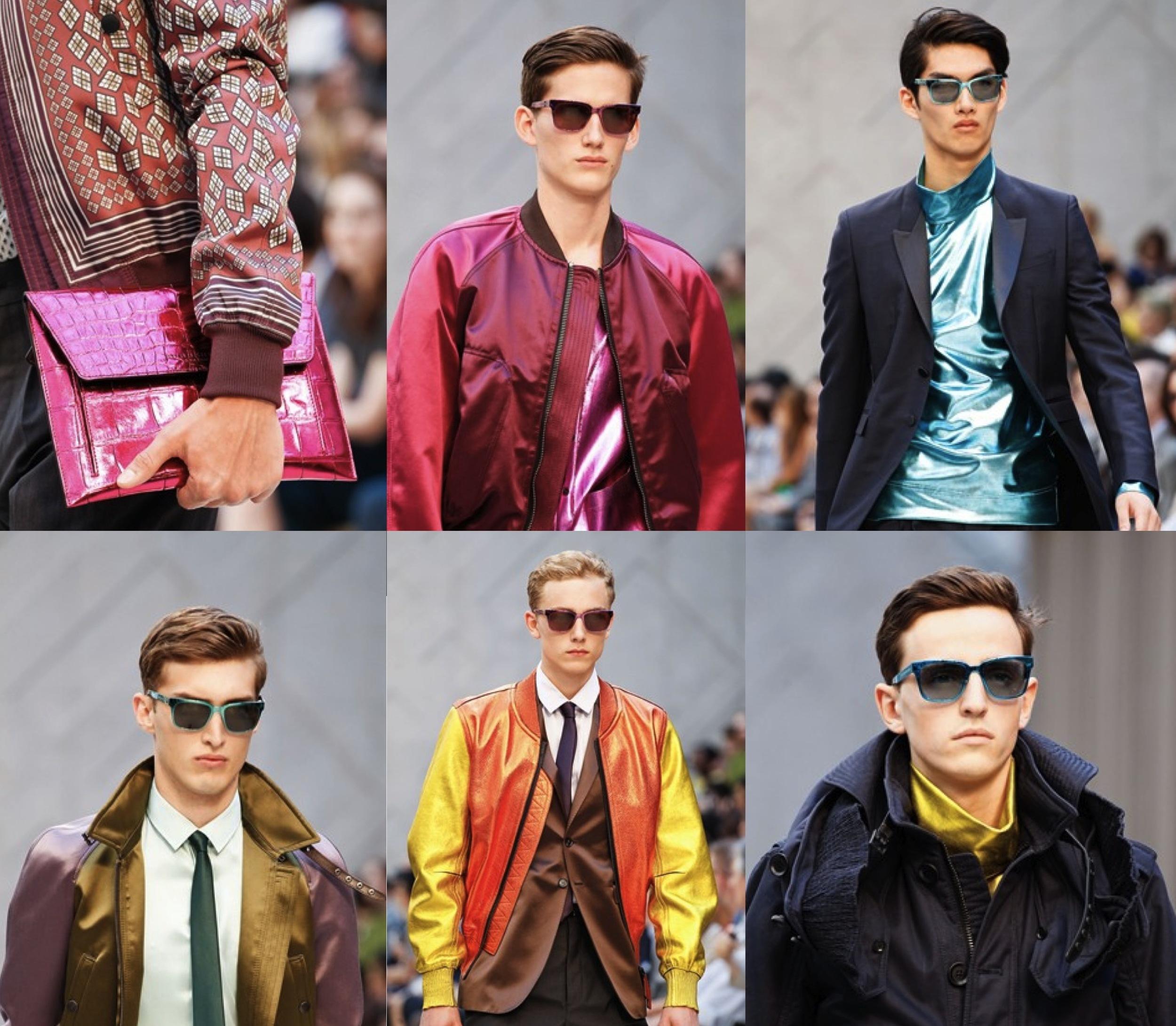 Burberry Prorsum SS 2013 Menswear Metallic