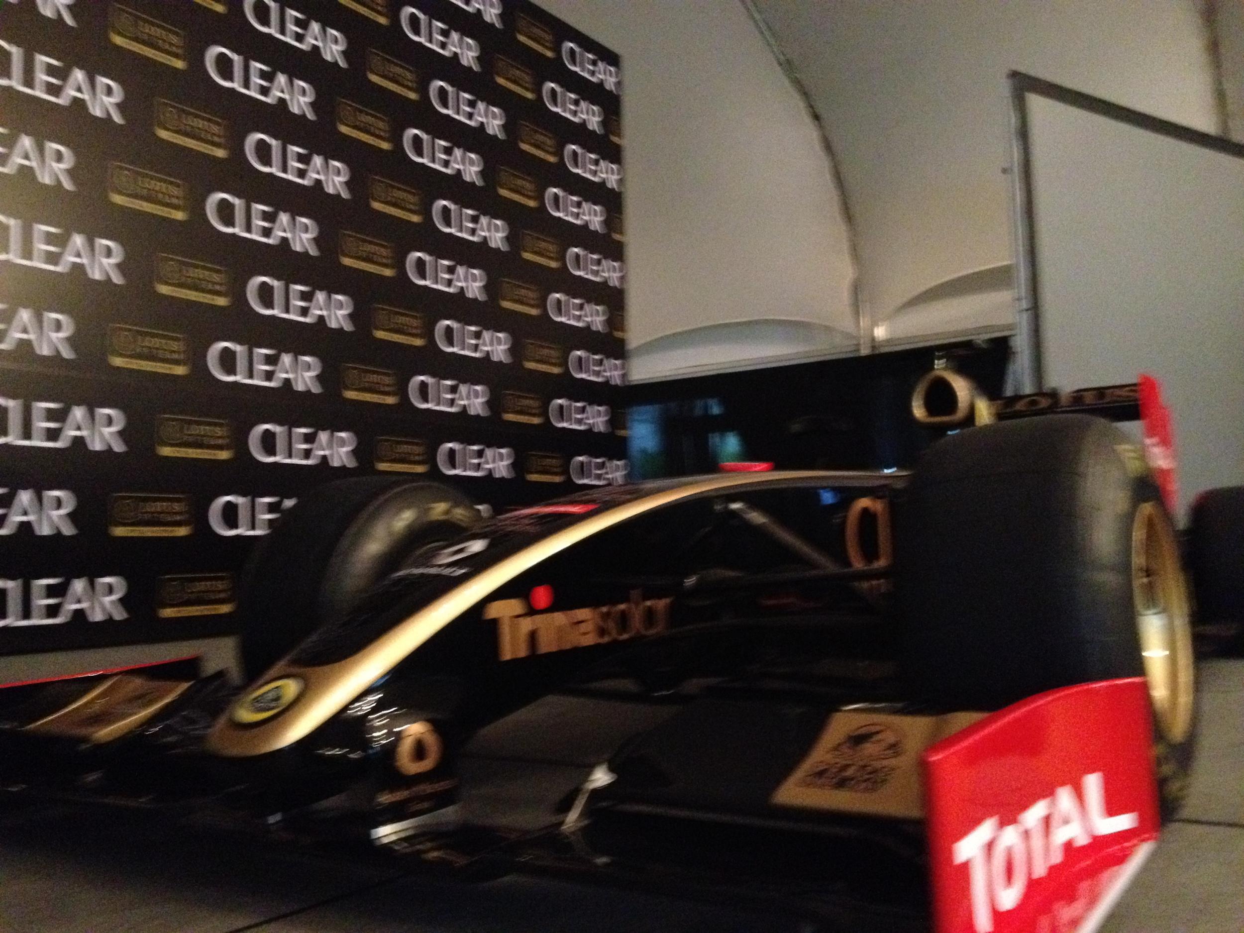 Lotus F1 Helmet for Heads Event