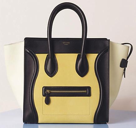 Celine Luggage Tote in Vanilla