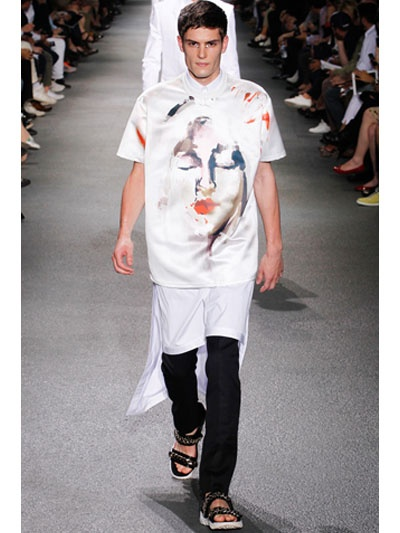 Givenchy Madonna Abstract Oversized Shirt