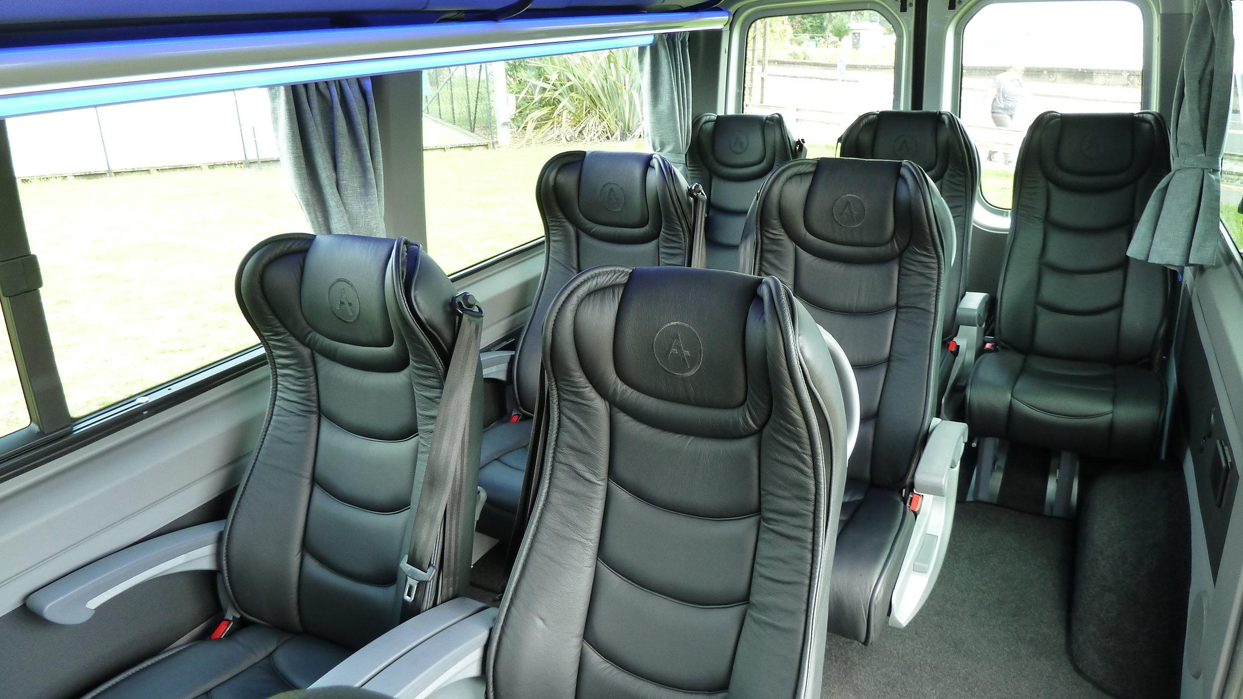 Mercedes Sprinter 8 Passenger Business Class Interior