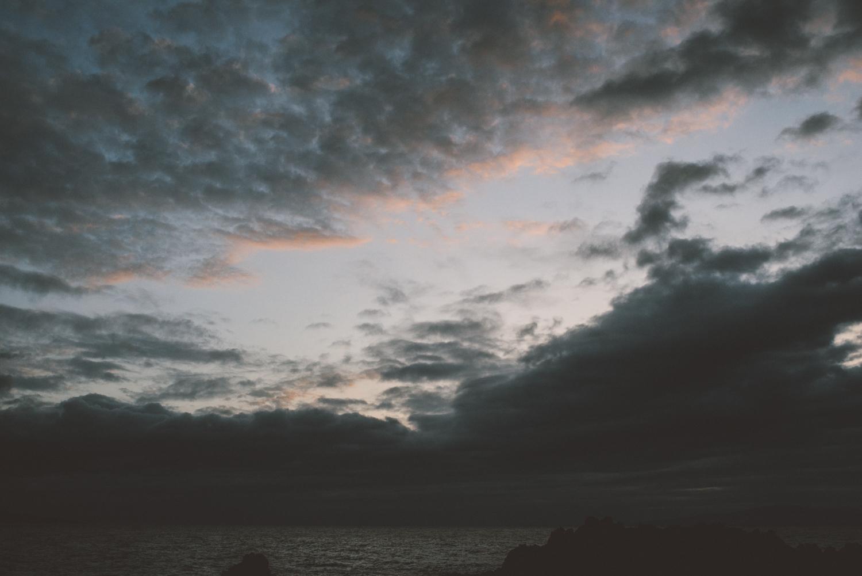 A sunset lacking sun.