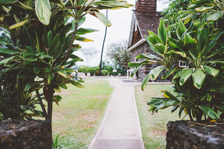 Church walkway entry.