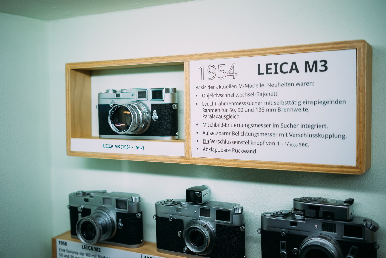 The Leica display was something to drool over.
