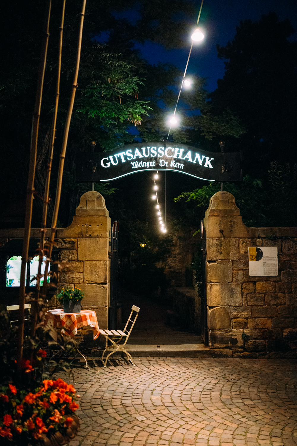 Entrance to a restaurant.