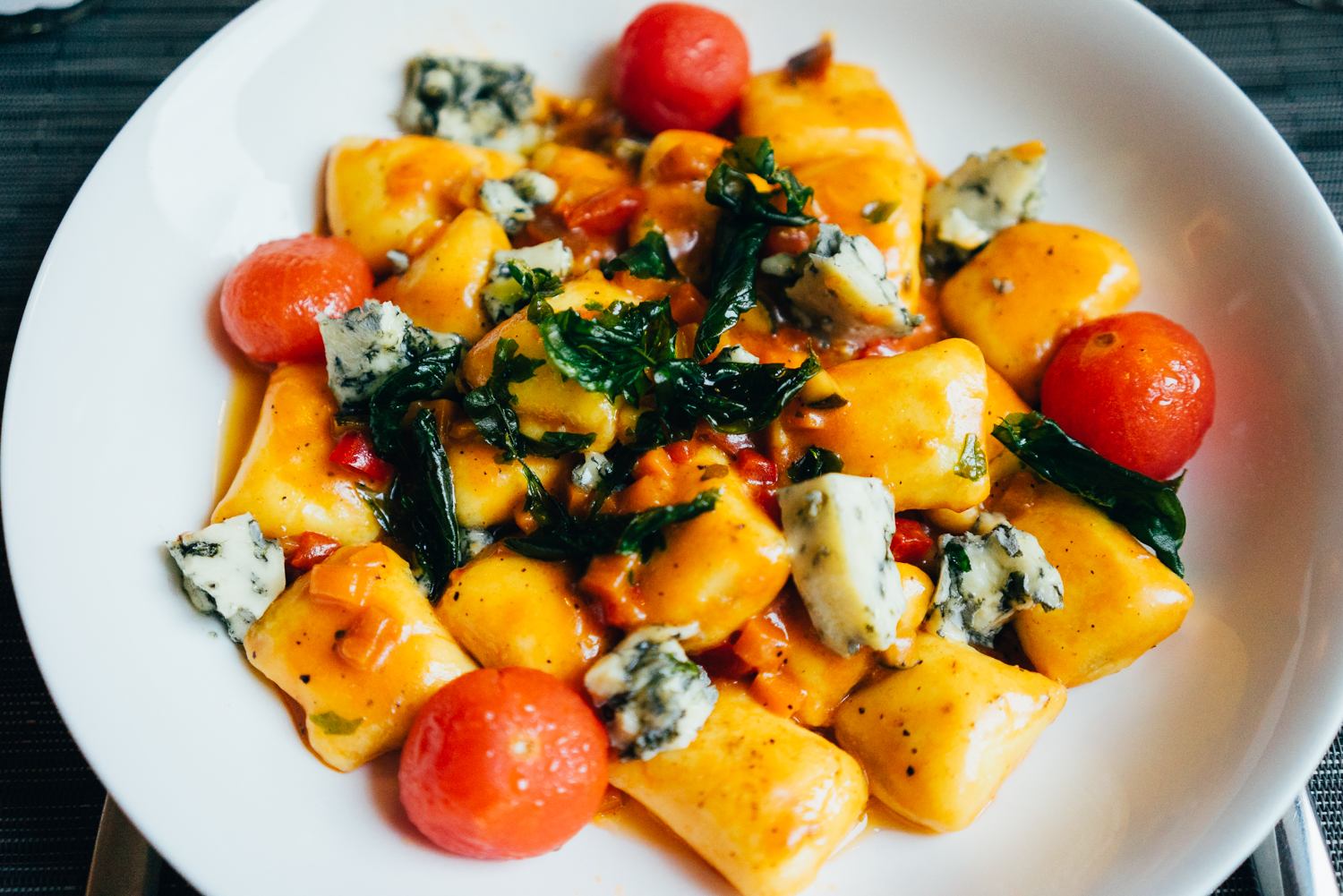 Gnocchi with a tomato basil sauce