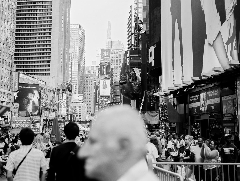 Times Square. Portra 160 Fuji GW690III