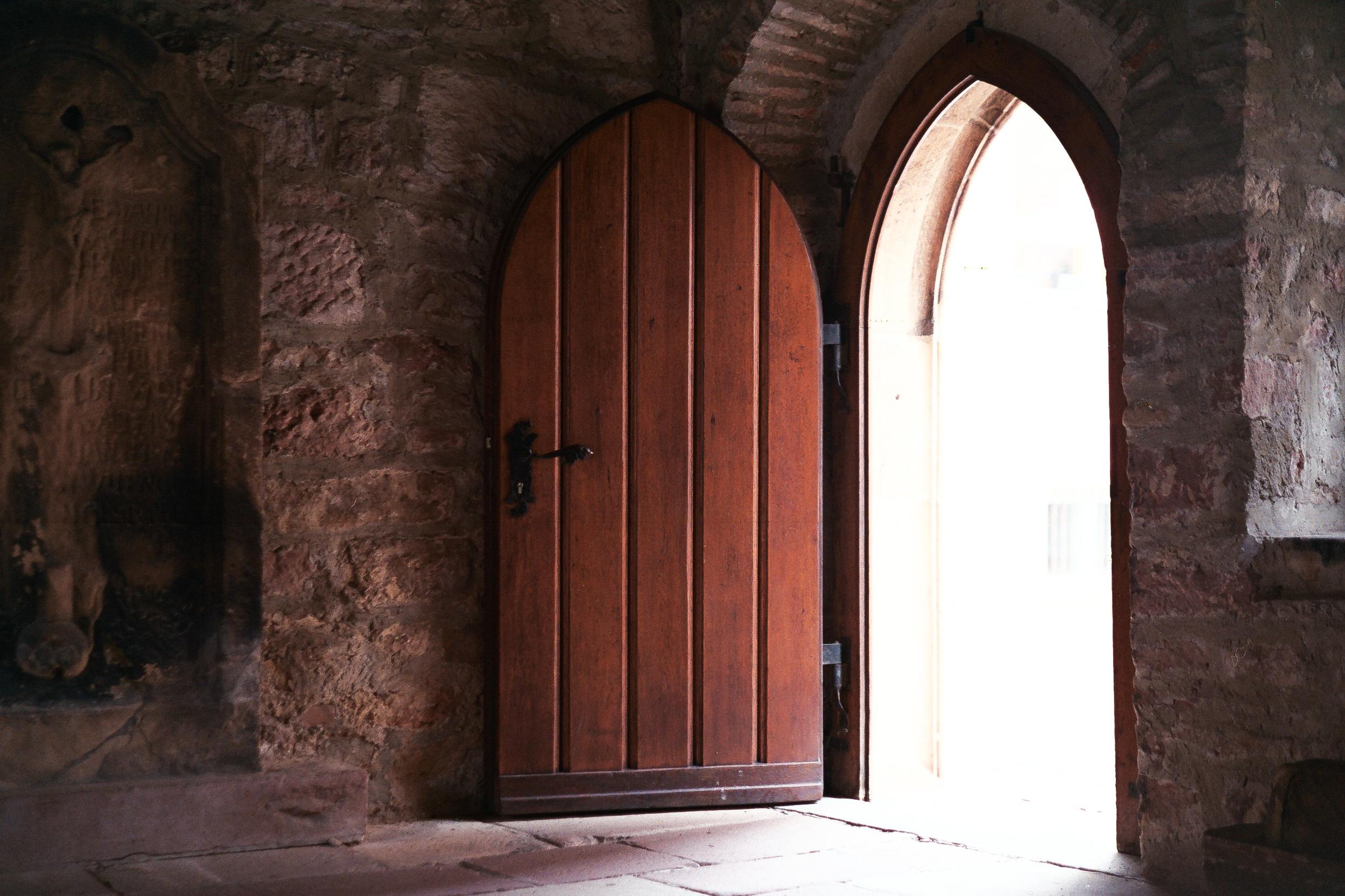 Chapel door. Leica M6 TTL w/ 50mm Cron Version III.