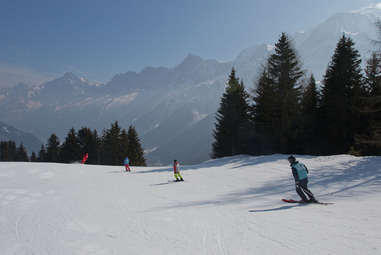 Beautiful views of the Mont Blanc Massif.