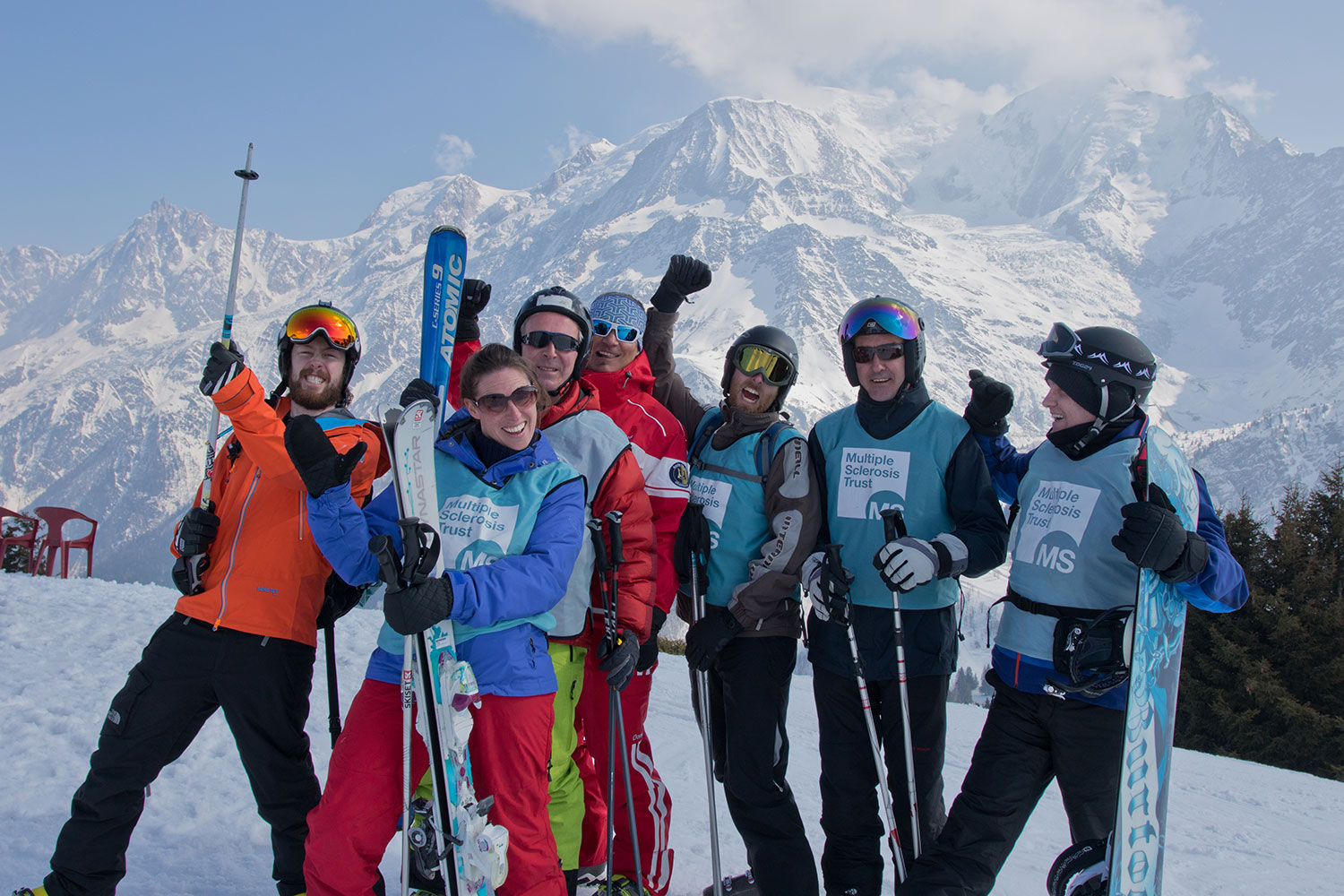 The advance ski group, these guys had clocked up 8 plus runs before lunch.