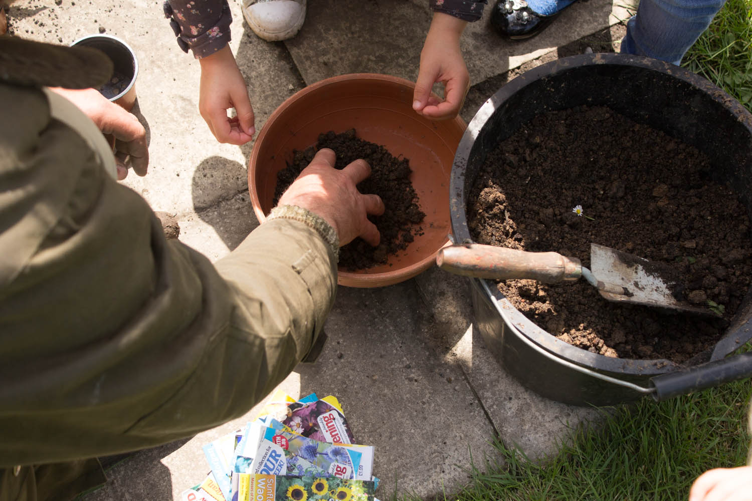 Seed Bomb Making at Abbey Physic Garden Faversham