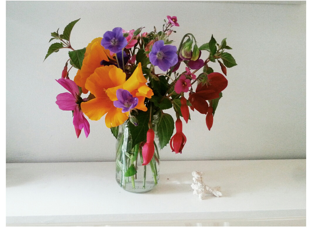 Lou Archell: Displaying flowers in recycled jam jars