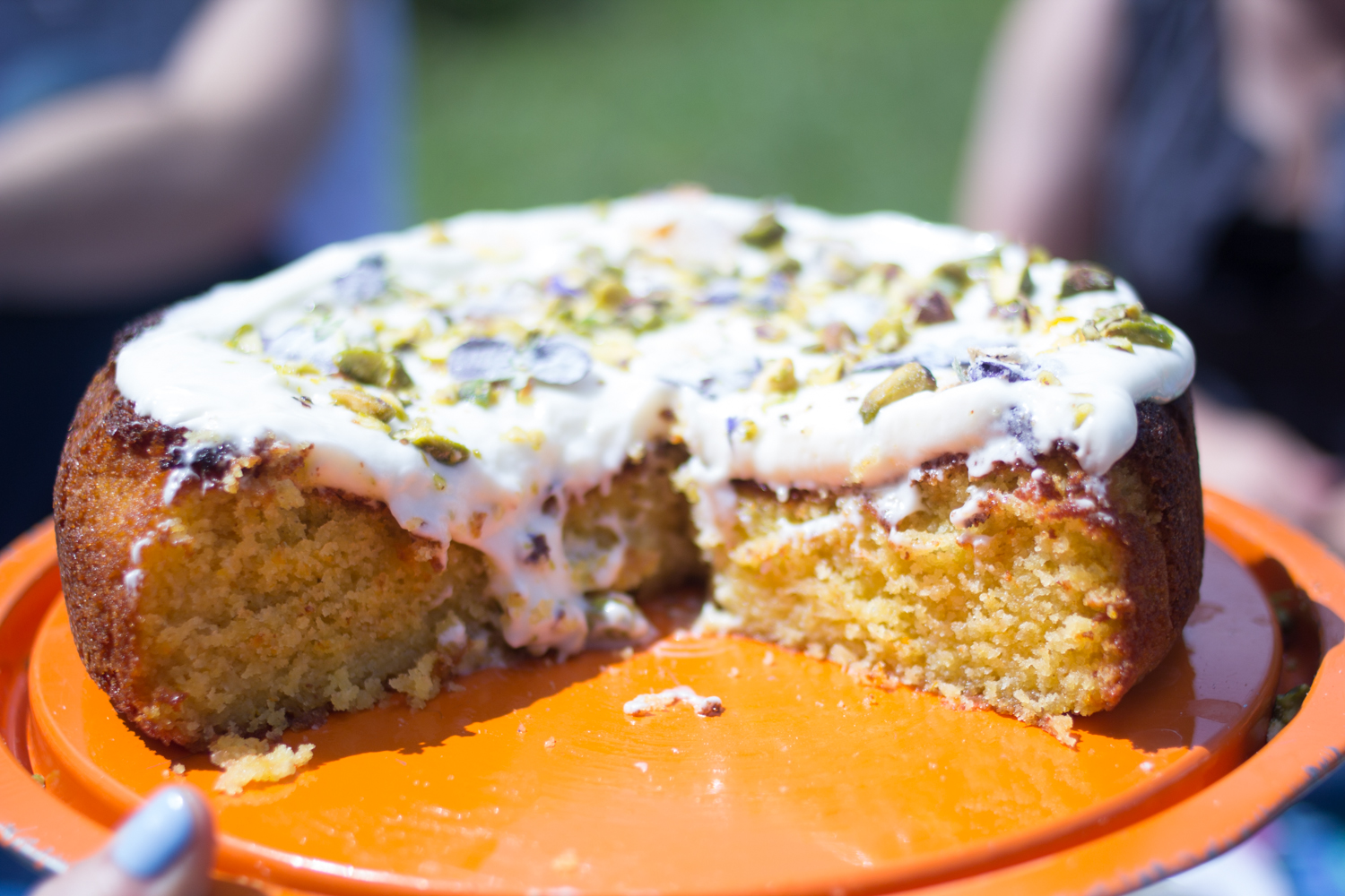Orange, Pistachio and Almond cake