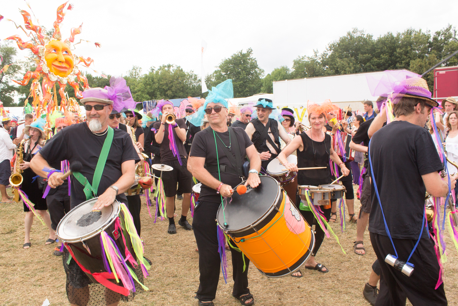 Womad parade drummers