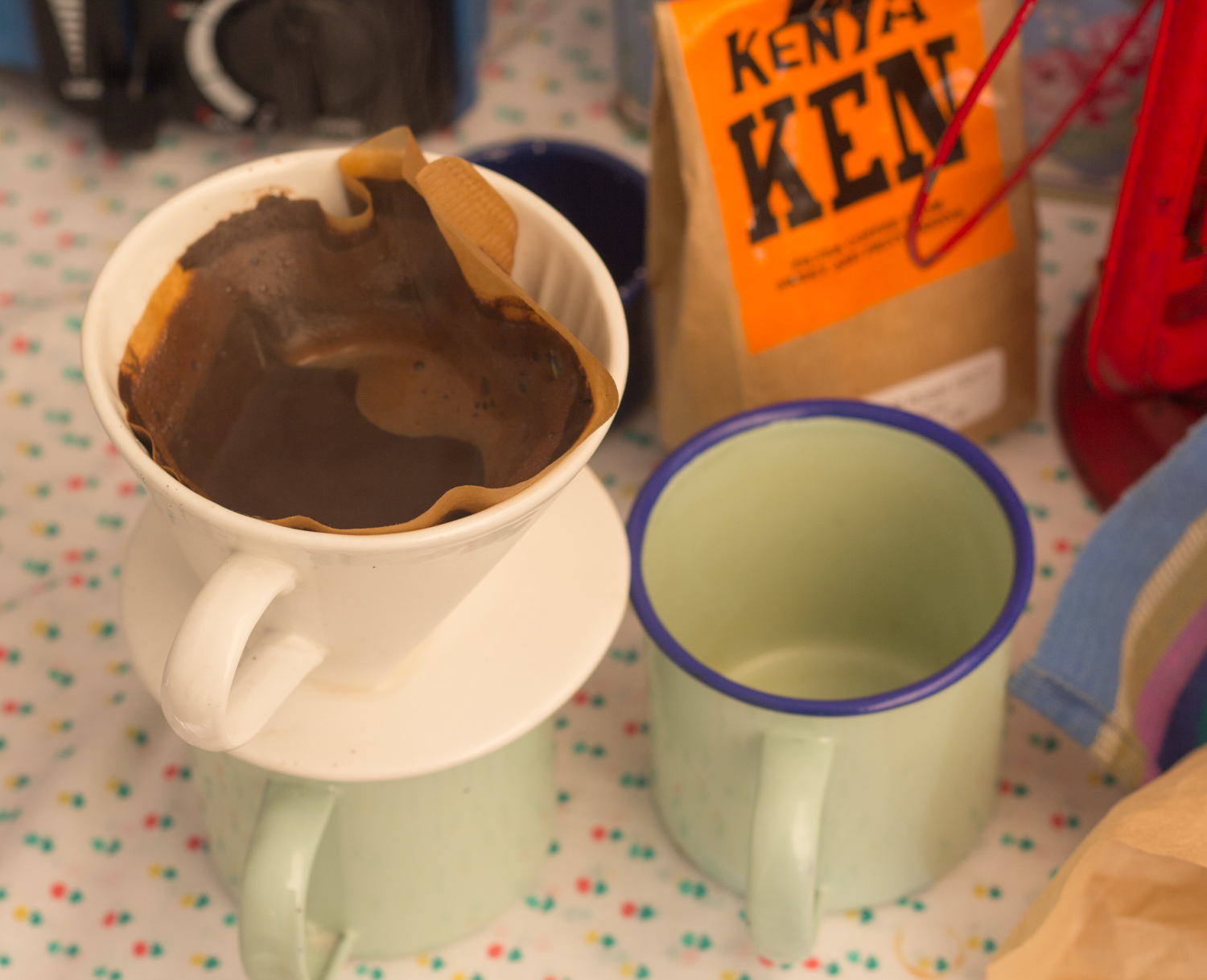 Bell tent coffee