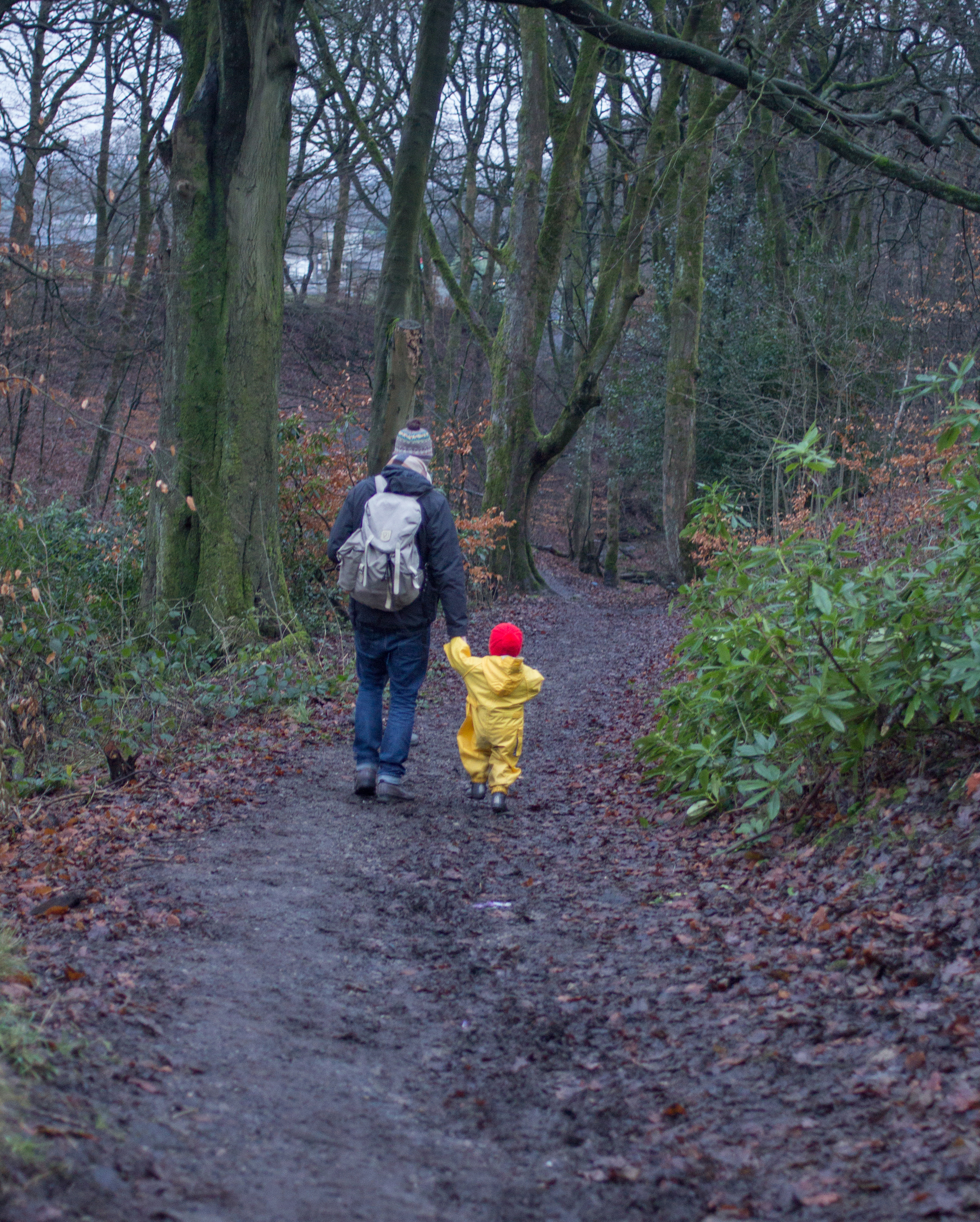Dave and Frankie in the woods