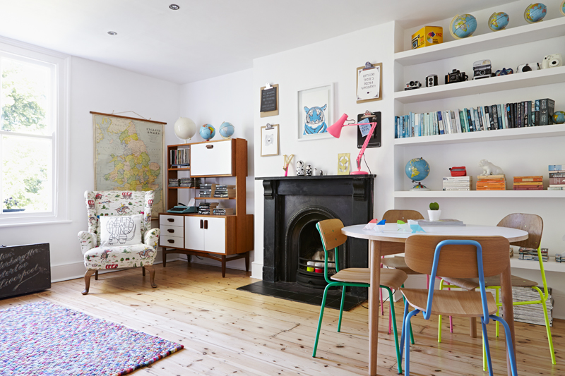 Zoe's cool, colourful and contemporary South East London flat. Styled by Hannah Bullivant, shot by Kristy Noble.