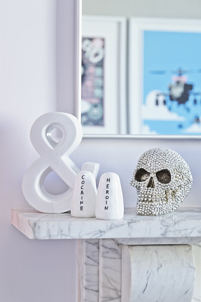 David Shrigley salt and pepper shakers. Hannah and Jonathans house. Photography Kristy Noble, Styling Hannah Bullivant | Seeds and Stitches blog