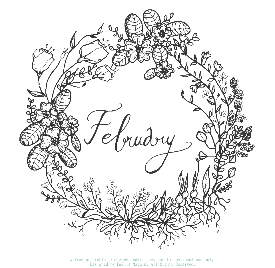 February Sunday Supplement | Seeds and Stitches blog