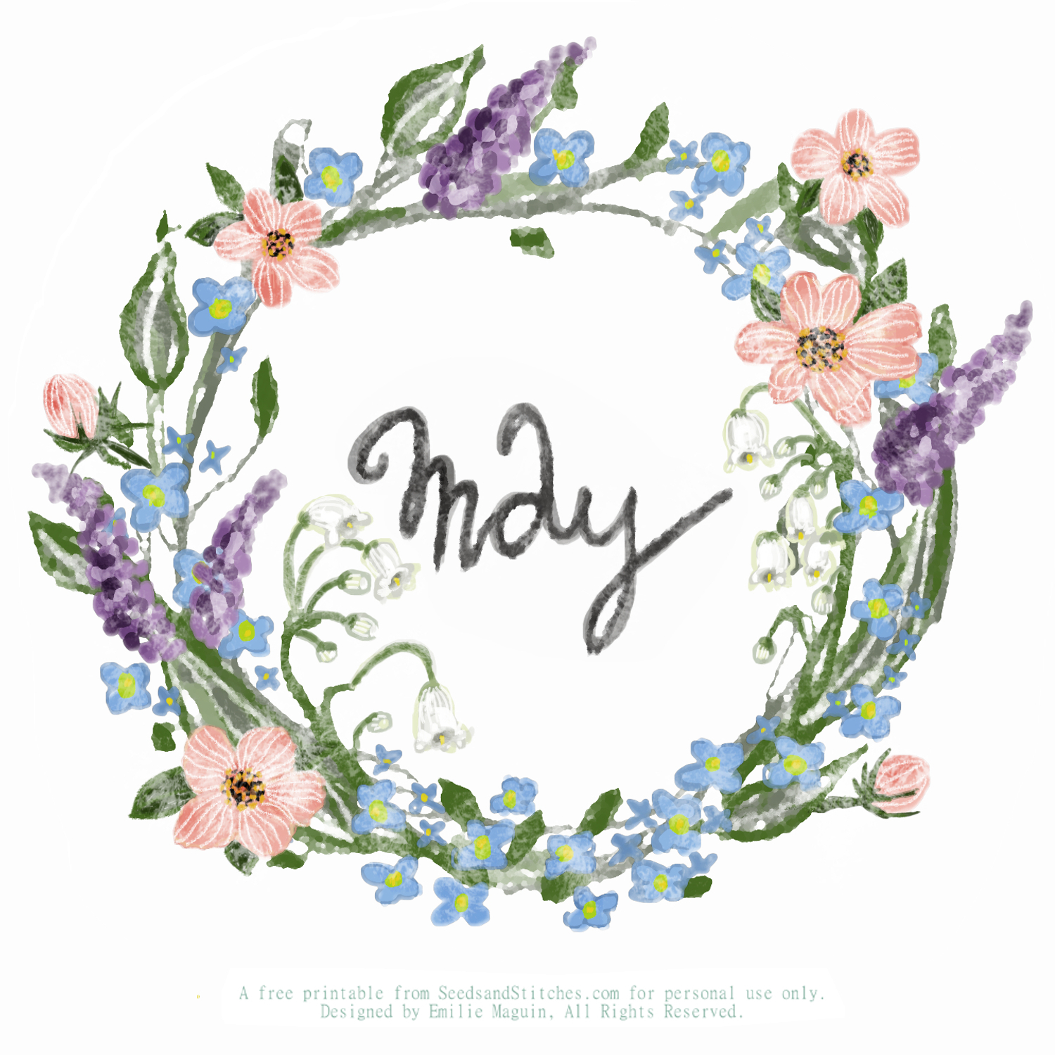 May by Emilie Maguin for Seeds and Stitches blog