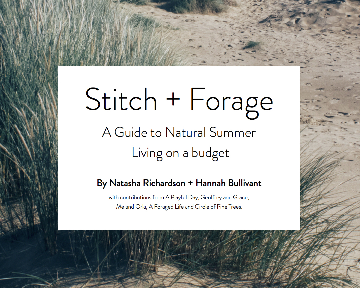 Stitch + Forage E-Course : Natural Summer Living on A Budget