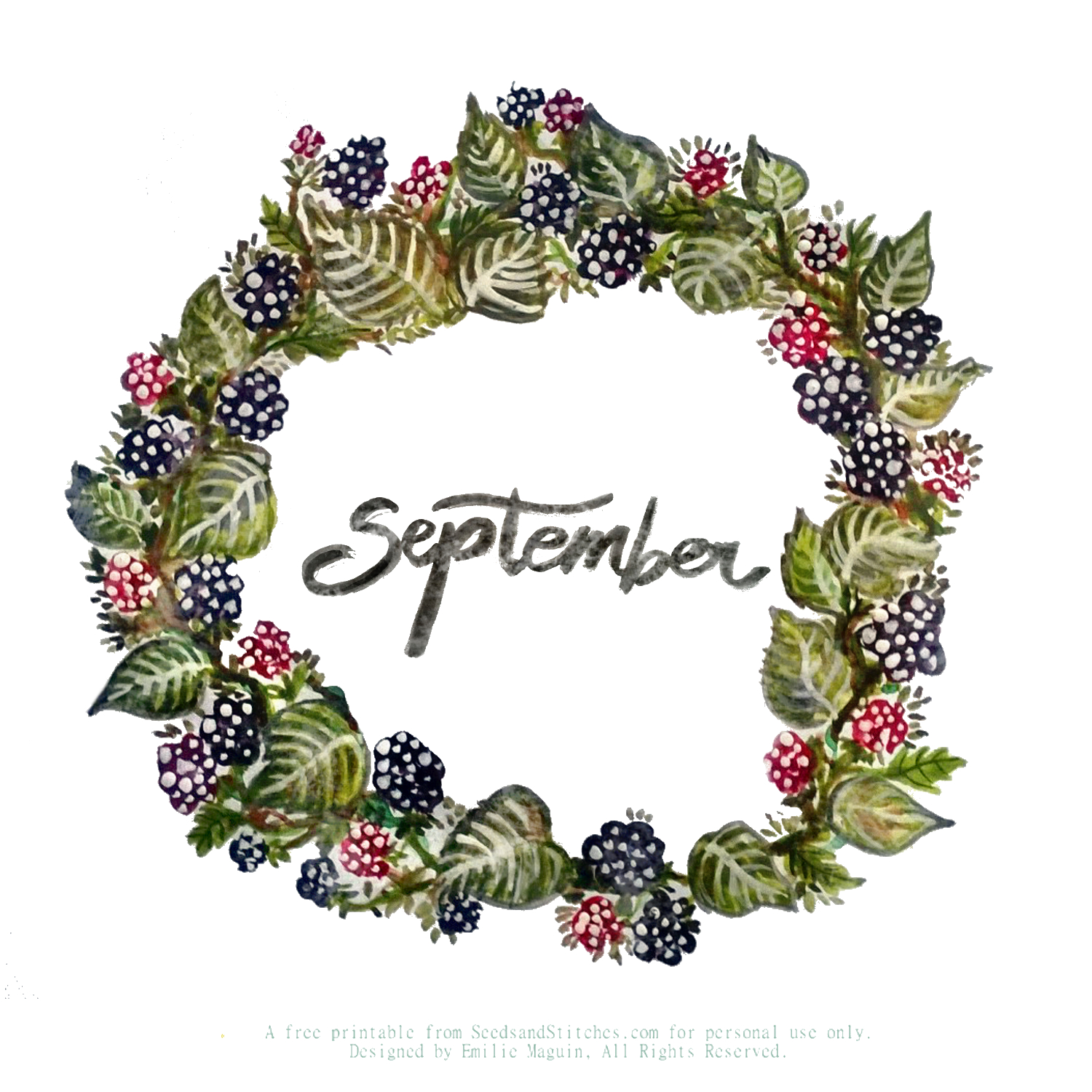 September Sunday Supplement | Seeds and Stitches blog