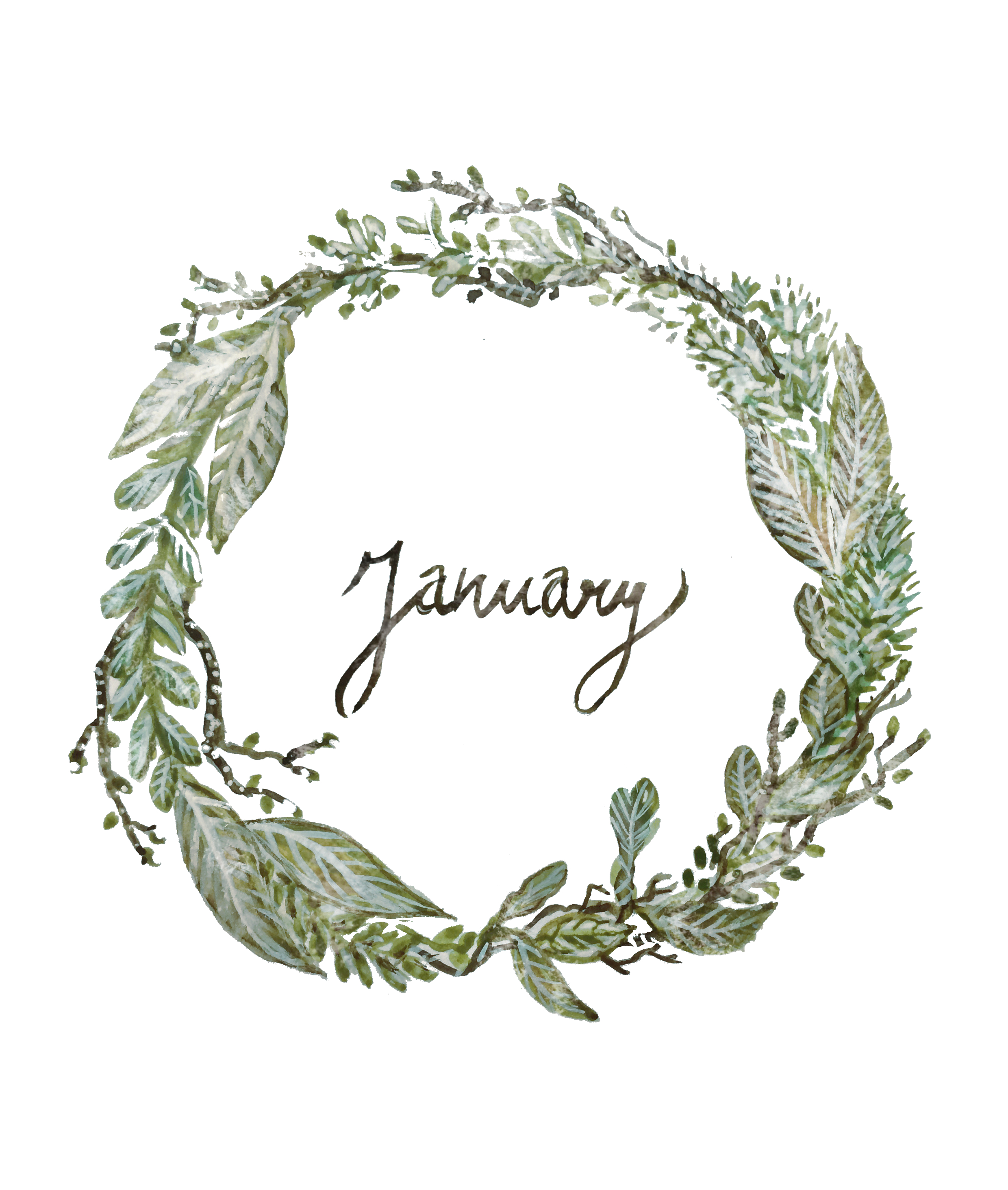 January by Emilie Maguin for Seeds and Stitches blog