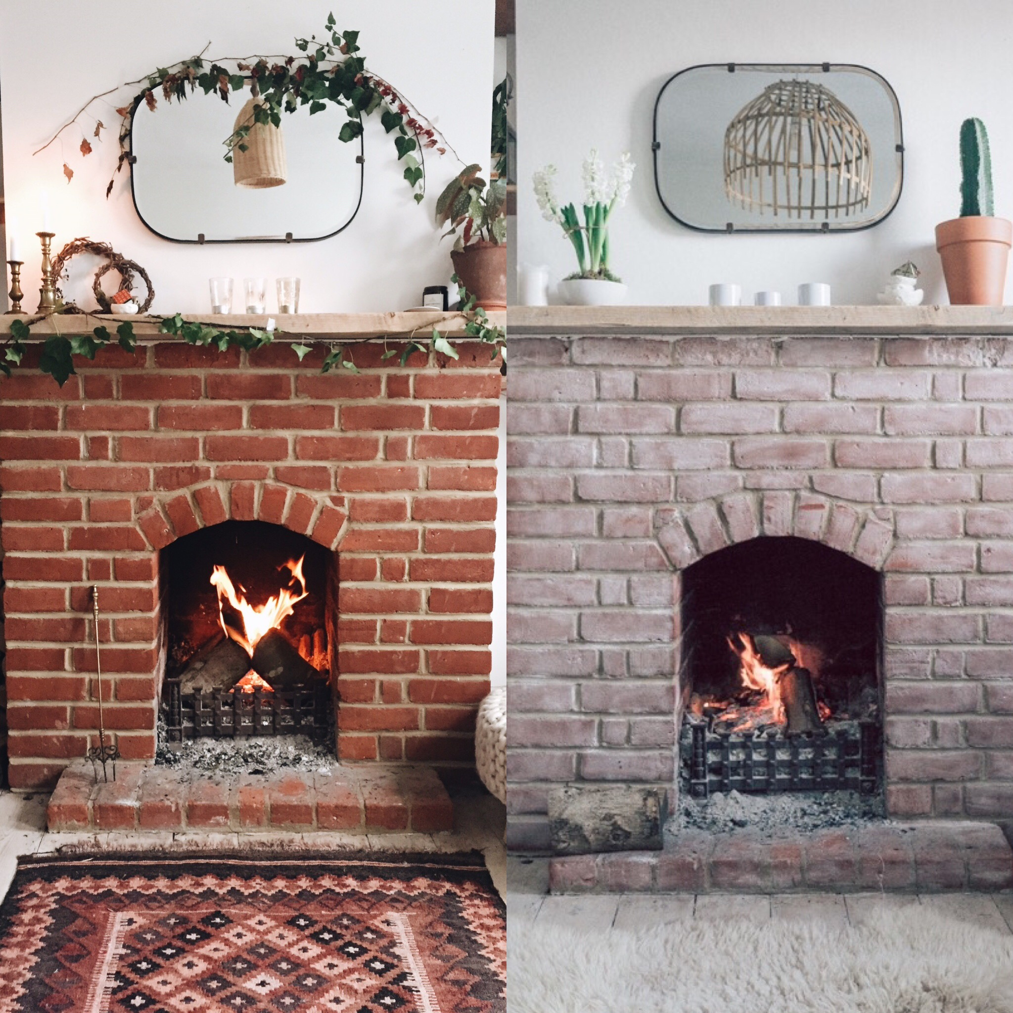 Fireplace makeover  with chalk! | Seeds and Stitches blog