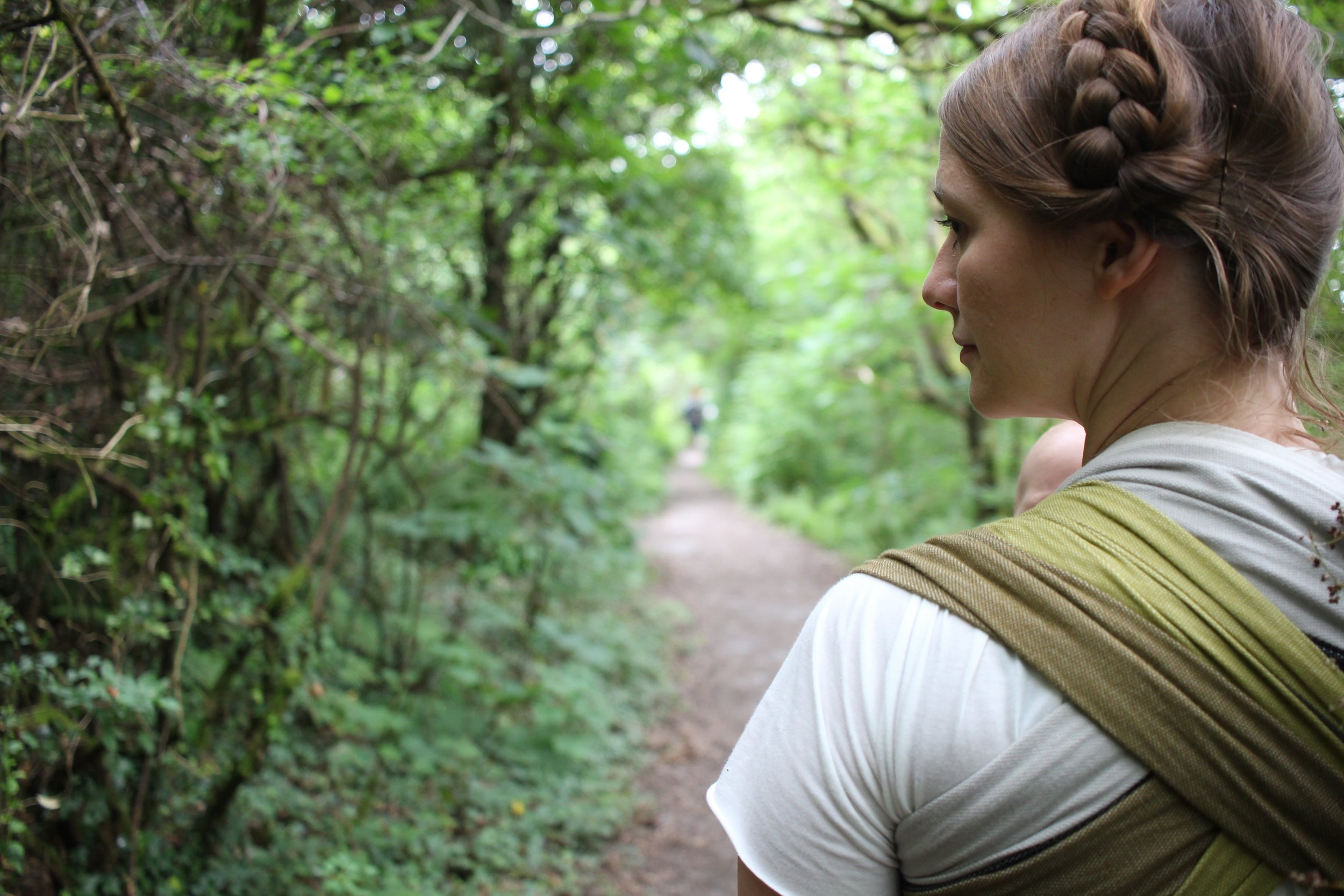 My  Ali Dover Wrap  was a total LIFE SAVER, both on the long train journey to and from Fforest, and during the retreat. I love this wrap so much!